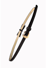 Banned SPECIAL ORDER Banned Gold Rush Bow Belt Black