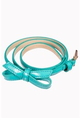 Banned SPECIAL ORDER Banned Gold Rush Bow Belt Aqua
