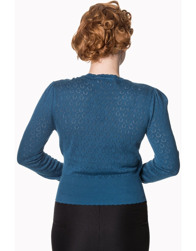 Banned SPECIAL ORDER Dancing Days Basic Instict Wrap Top Teal