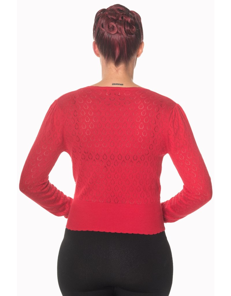 Banned SPECIAL ORDER Dancing Days Basic Instict Wrap Top Red