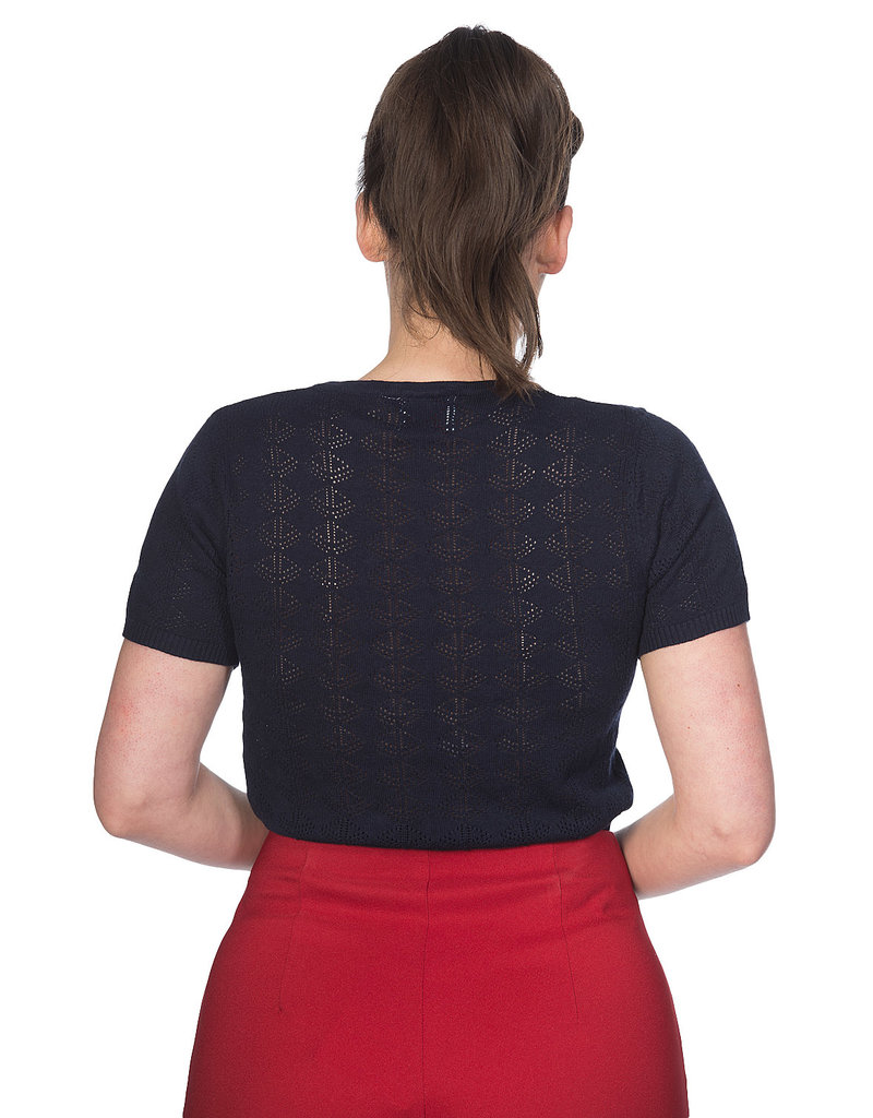 Banned SPECIAL ORDER Dancing Days Nautical Top Black