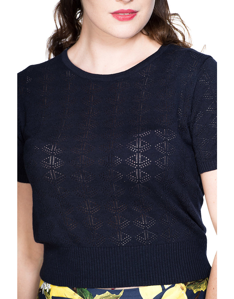 Banned SPECIAL ORDER Dancing Days Nautical Top Midnight Blue