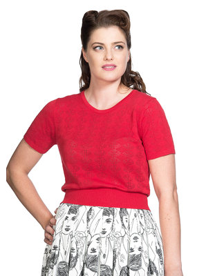 Banned SPECIAL ORDER Dancing Days Nautical Top Red