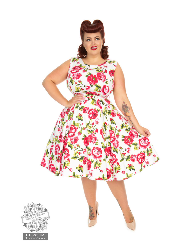Hearts and Roses SPECIAL ORDER Hearts & Roses Sweet Rose Swing Dress
