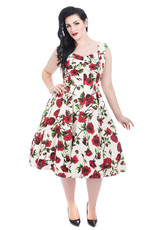 Hearts and Roses SPECIAL ORDER Hearts & Roses Ditsy Rose Dress Cream