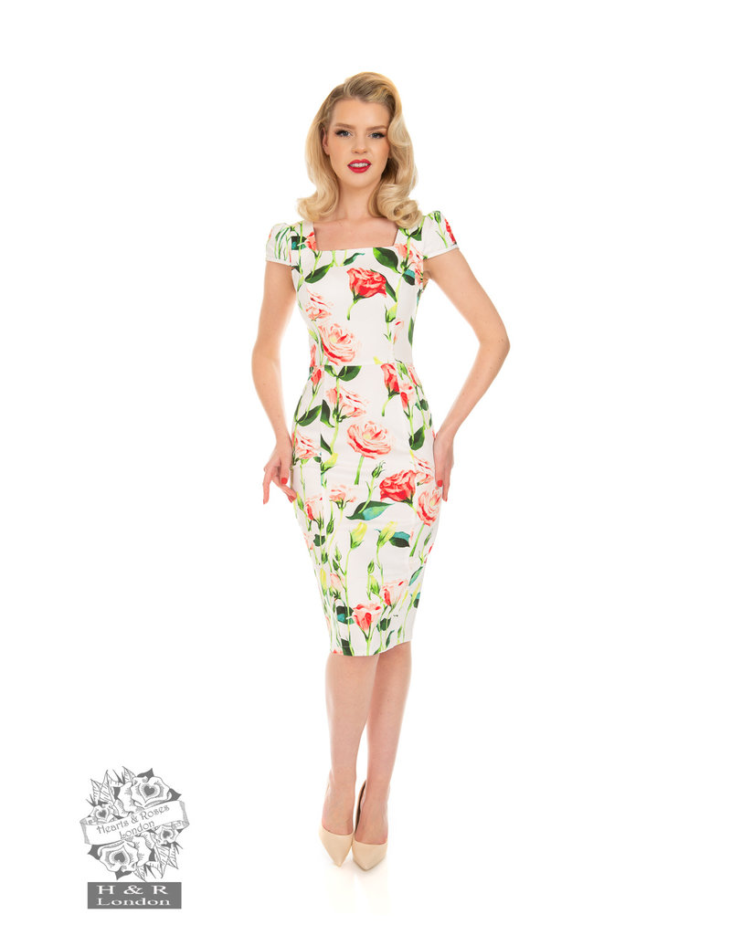 Hearts and Roses SPECIAL ORDER Hearts & Roses Linda Floral Wiggle Dress