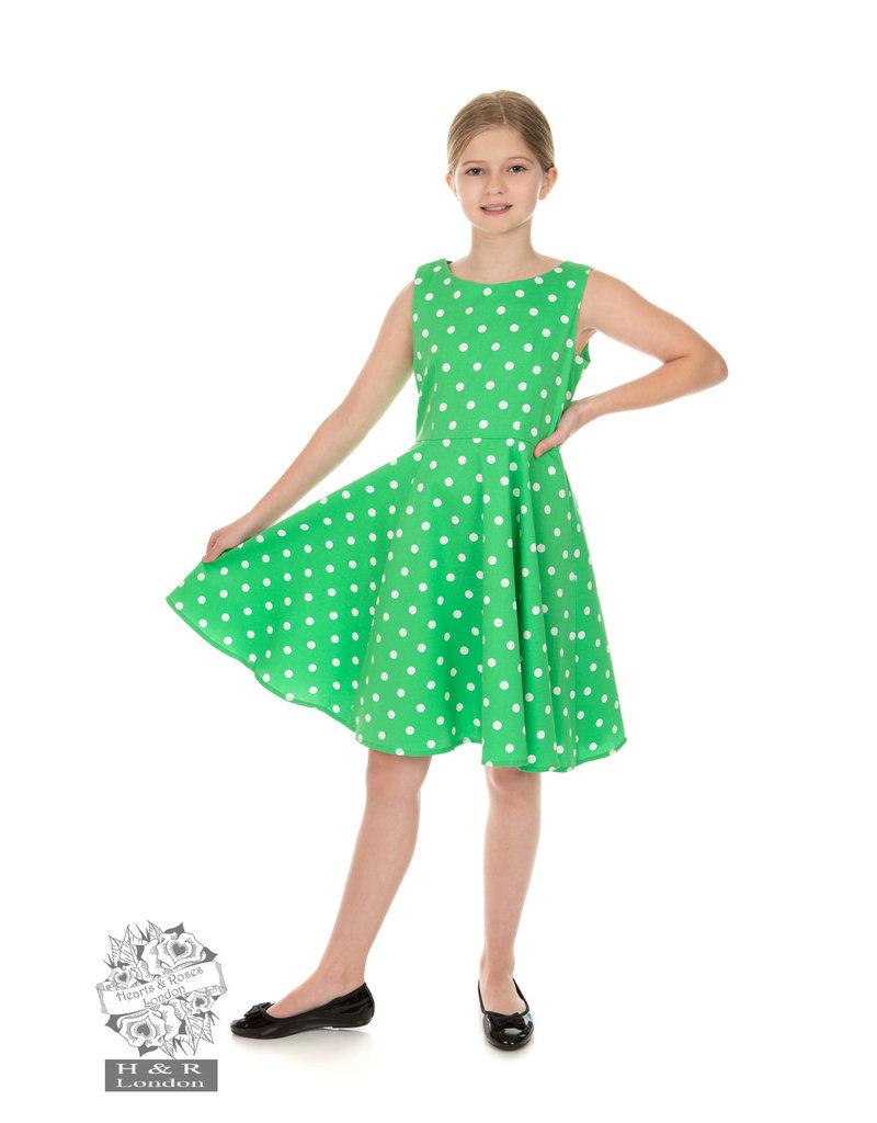 Hearts and Roses SPECIAL ORDER Hearts & Roses Carly Polka Dot Kids Dress
