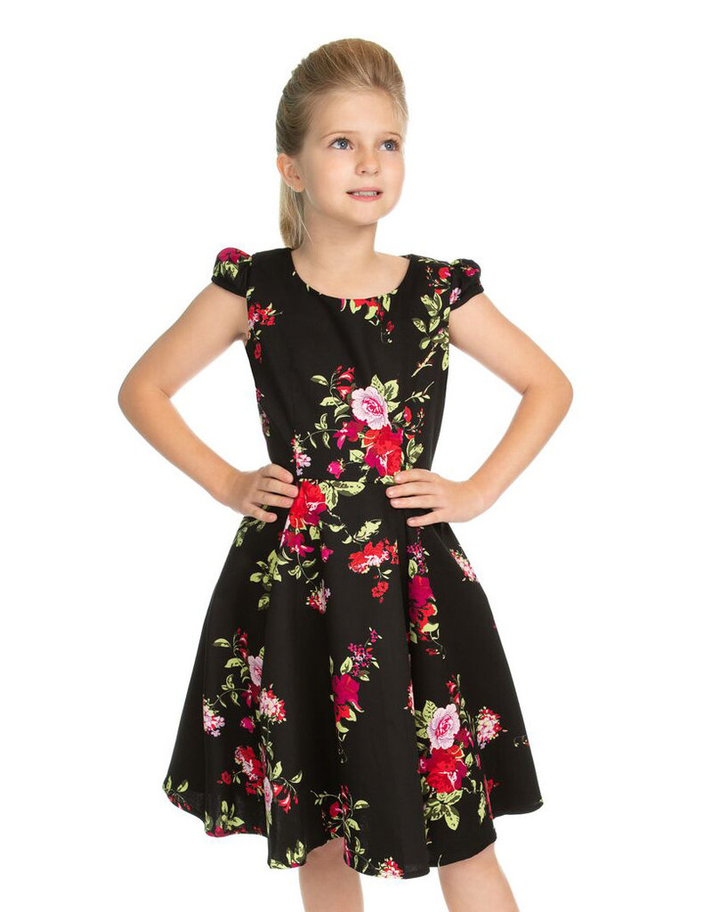 Hearts and Roses SPECIAL ORDER Hearts & Roses Royal Ballet Kids Dress Black