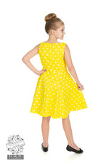 Hearts and Roses SPECIAL ORDER Hearts & Roses Yellow Polka Dot Kids Dress
