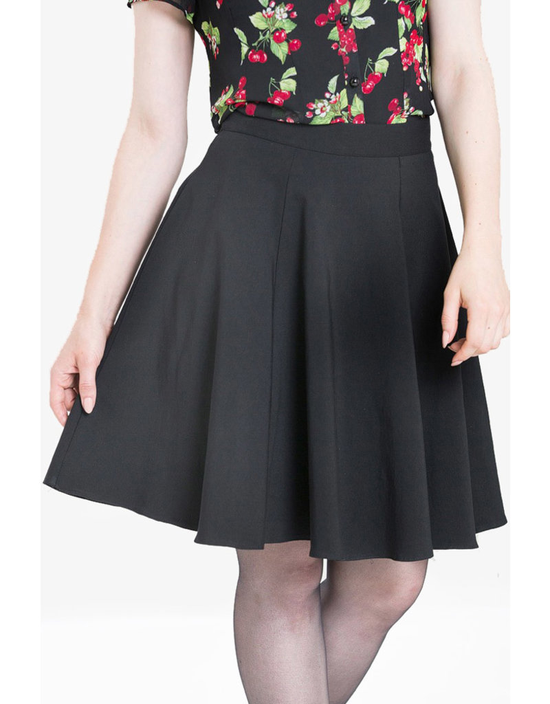 Hell Bunny SPECIAL ORDER Hell Bunny Gabby Skater Skirt Black