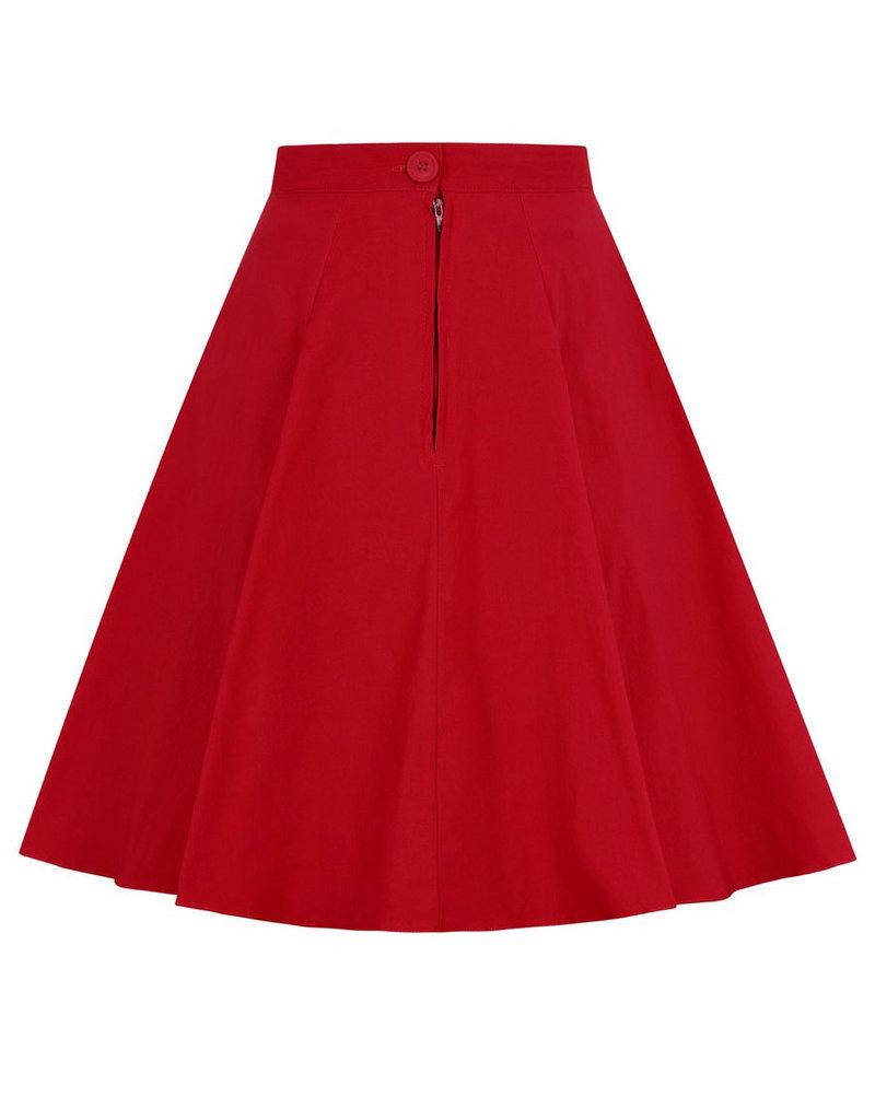 Hell Bunny SPECIAL ORDER Hell Bunny Gabby Skater Skirt Red