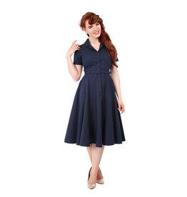 Collectif SPECIAL ORDER Collectif Caterina Vintage Swing Dress Navy