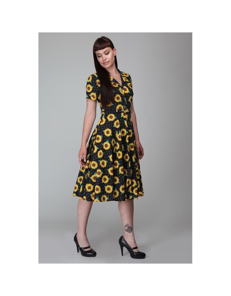 Collectif SPECIAL ORDER Collectif Caterina Sunflower Swing Dress