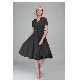 Collectif SPECIAL ORDER Collectif Caterina Mini Polkadot Dress Black