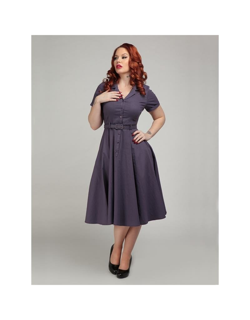 Collectif SPECIAL ORDER Collectif Caterina Swing Dress Purple