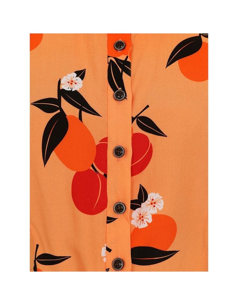 Collectif SPECIAL ORDER Collectif Sammy Mid Century Apricot Blouse