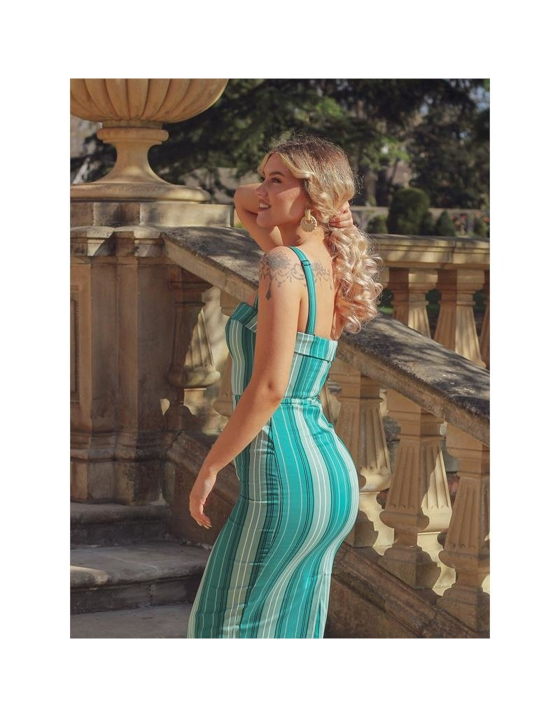 Collectif Collectif Kiana Mint Humbug Pencil Dress