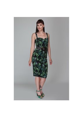 Collectif SPECIAL ORDER Collectif Kiana Black Forest Pencil Dress