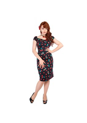 Collectif SPECIAL ORDER Collectif Dolores Cherry Print Pencil Dress