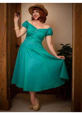 Collectif SPECIAL ORDER Collectif Dolores Swing Dress Teal
