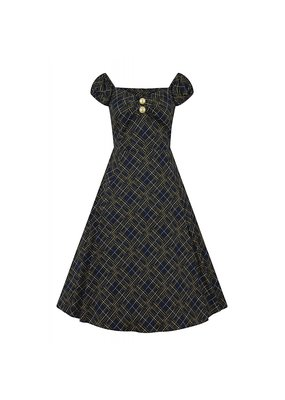 Collectif SPECIAL ORDER Collectif Dolores Hatch Check Swing Dress
