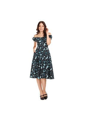 Collectif SPECIAL ORDER Collectif Dolores Midnight Butterfly Swing Dress
