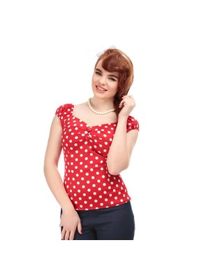 Collectif SPECIAL ORDER Collectif Dolores Polkadot Top Red