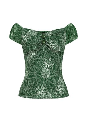 Collectif SPECIAL ORDER Collectif Dolores Pineapple Palm Top Green