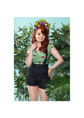 Collectif SPECIAL ORDER Collectif Dolores Butterfly Top Green