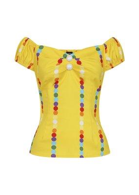 Collectif SPECIAL ORDER Collectif Dolores Rainbow Polka Stripe Top
