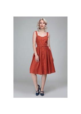 Collectif SPECIAL ORDER Collectif Jemima Polkadot Dress Orange
