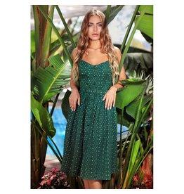 Collectif SPECIAL ORDER Collectif Jemima Polkadot Dress Green