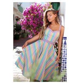 Collectif SPECIAL ORDER Collectif Nova Pastel Rainbow Stripes Dress