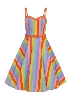 Collectif SPECIAL ORDER Collectif Nova Vintage Rainbow Dress