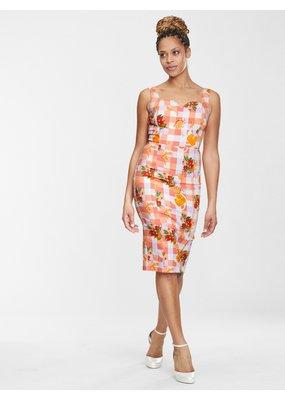 Collectif SPECIAL ORDER Collectif Anita Juicy Oranges Pencil Dress