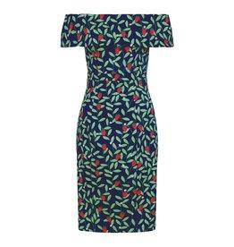 Collectif SPECIAL ORDER Collectif Linda Strawberry  Vine Pencil Dress