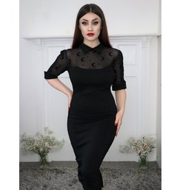 Collectif SPECIAL ORDER Collectif Wednesday Moon Mesh Pencil Dress