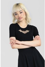 Hell Bunny Hell Bunny Knitted Bat Top Black