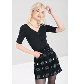 Hell Bunny SPECIAL ORDER Hell Bunny Oculus Jeans Mini Skirt