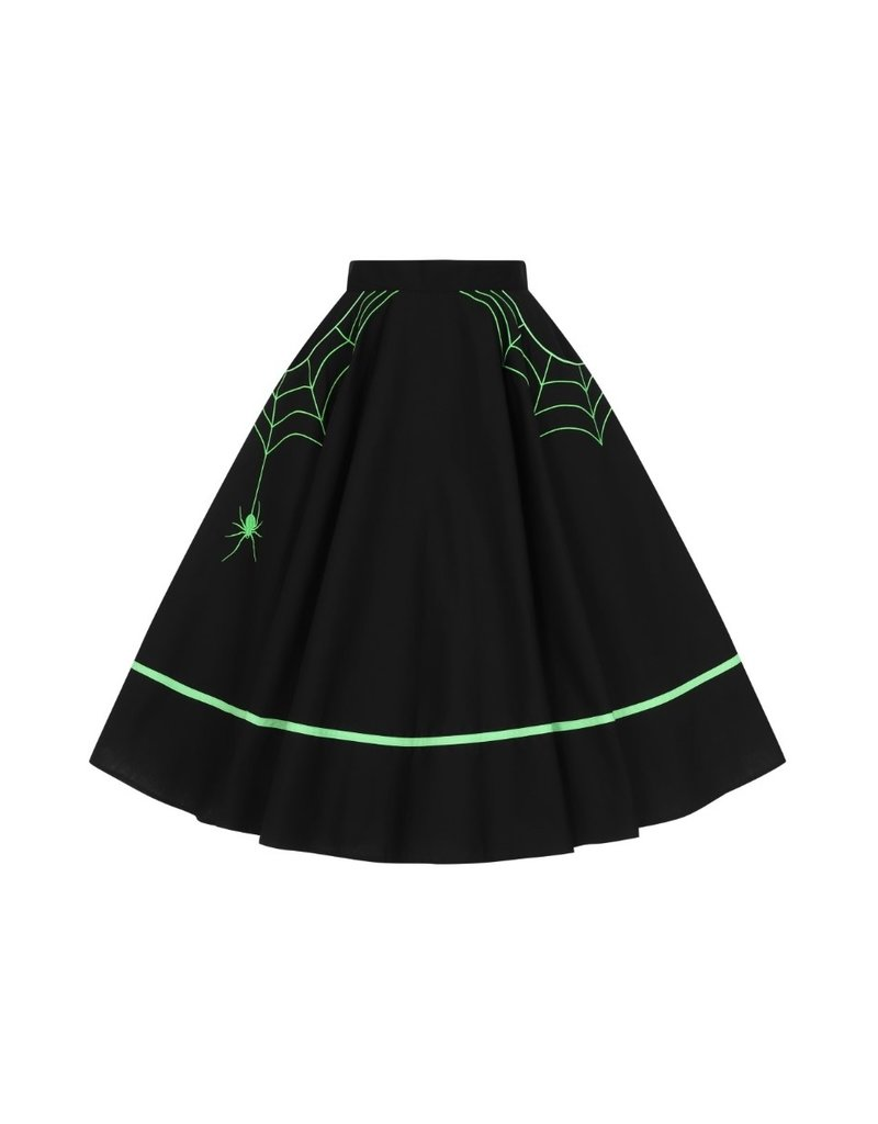 Hell Bunny SPECIAL ORDER Hell Bunny Miss Muffet Skirt Green
