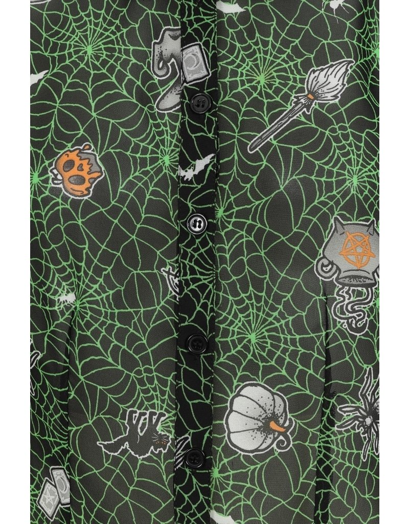 Hell Bunny SPECIAL ORDER Hell Bunny Halloween Hex Blouse