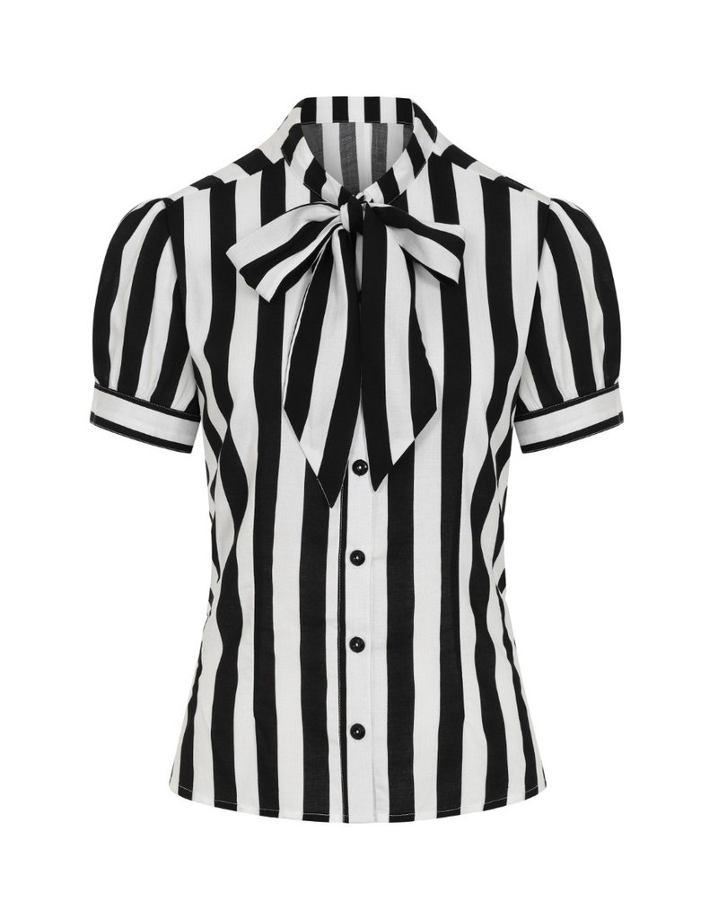 Hell Bunny SPECIAL ORDER Hell Bunny Juno Striped Blouse