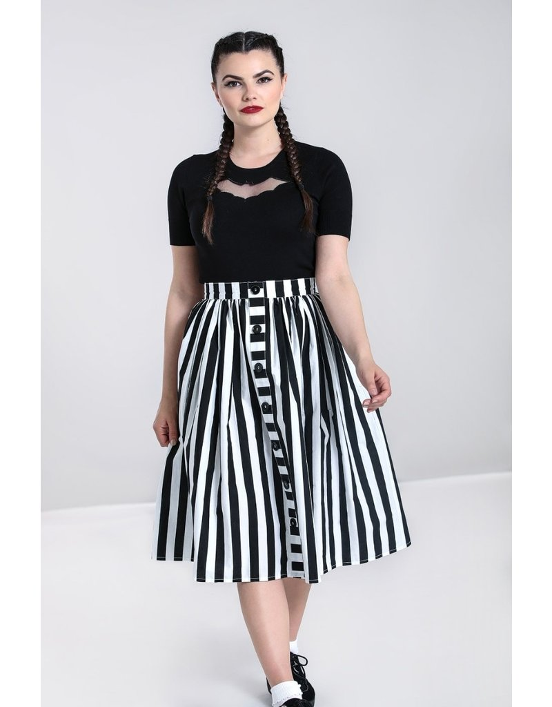 Hell Bunny SPECIAL ORDER Hell Bunny Juno Striped Pleated Skirt