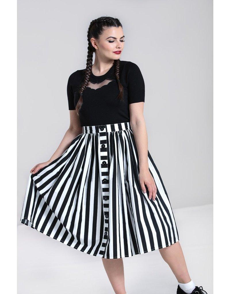 Hell Bunny Hell Bunny Juno Striped Pleated Skirt