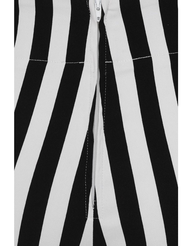 Hell Bunny Hell Bunny Otho Striped Capri Trousers