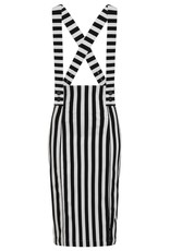 Hell Bunny Hell Bunny Otho Striped Pinafore Skirt