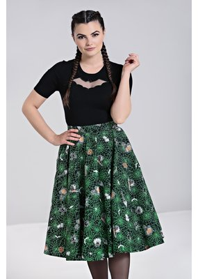 Hell Bunny SPECIAL ORDER Hell Bunny Halloween Hex Swing Skirt