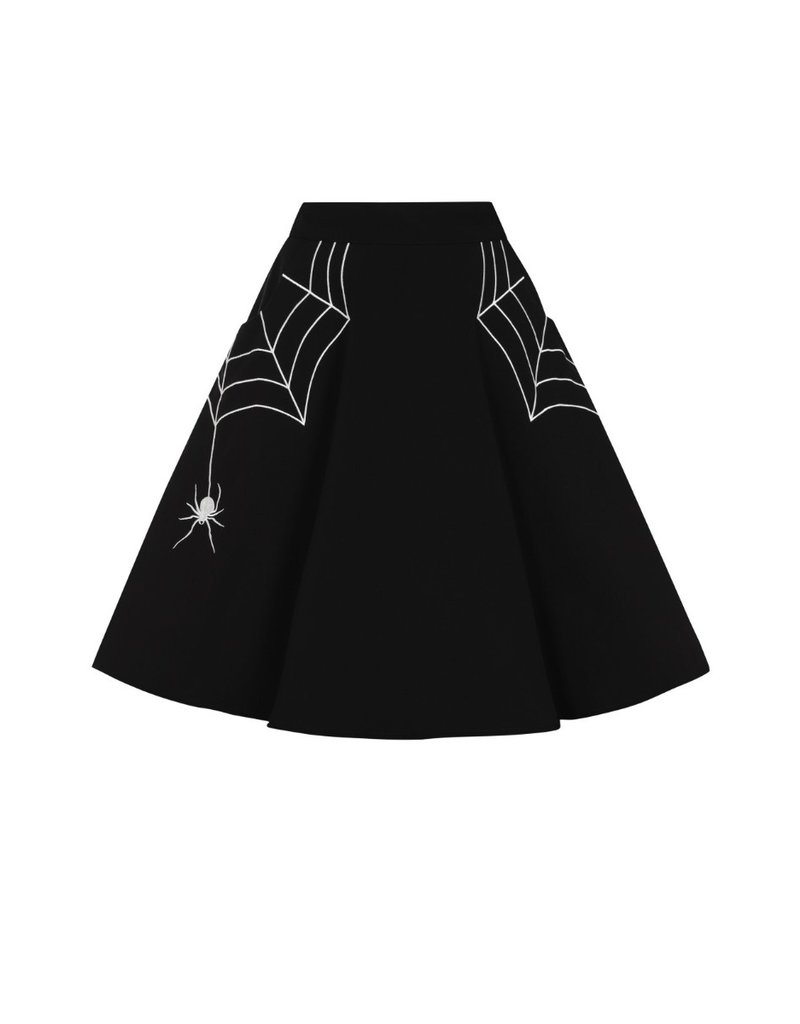 Hell Bunny Hell Bunny Miss Muffet Mini Skirt White