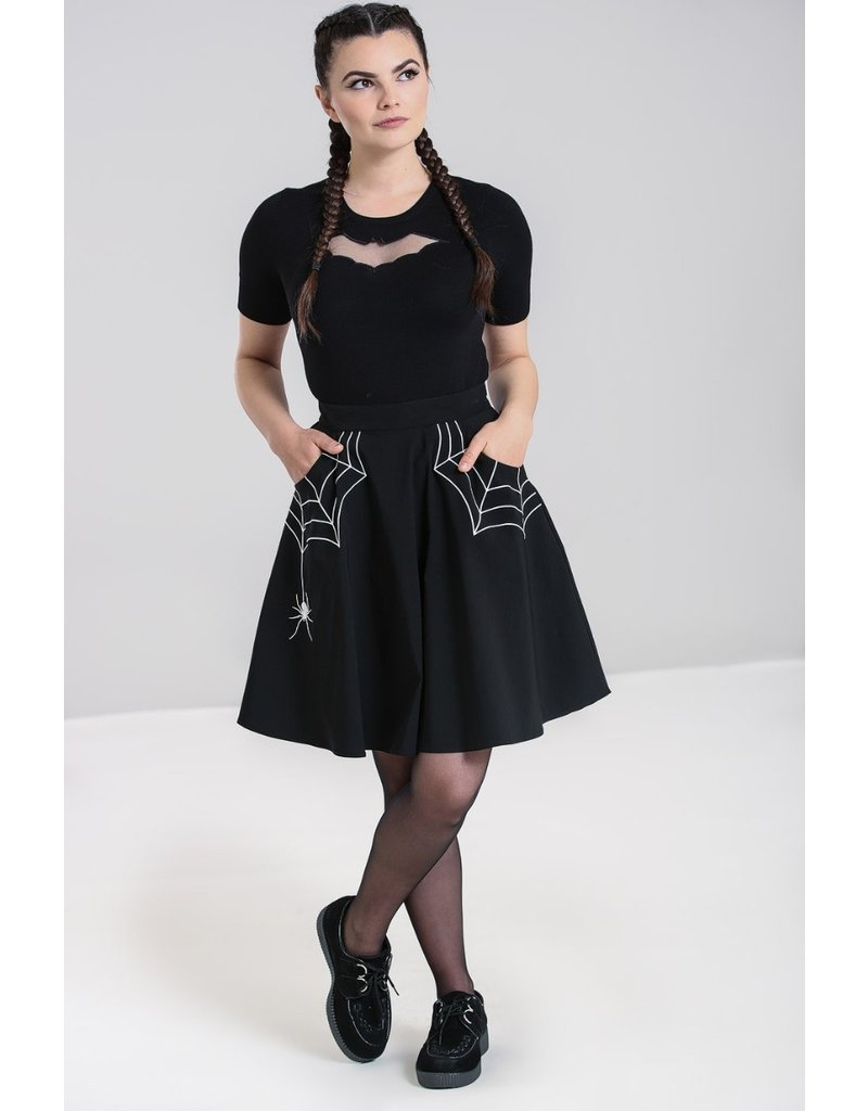 Hell Bunny SPECIAL ORDER Hell Bunny Miss Muffet Mini Skirt White