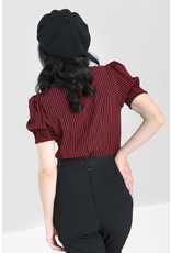 Hell Bunny SPECIAL ORDER Hell Bunny Striped Humbug Blouse Red
